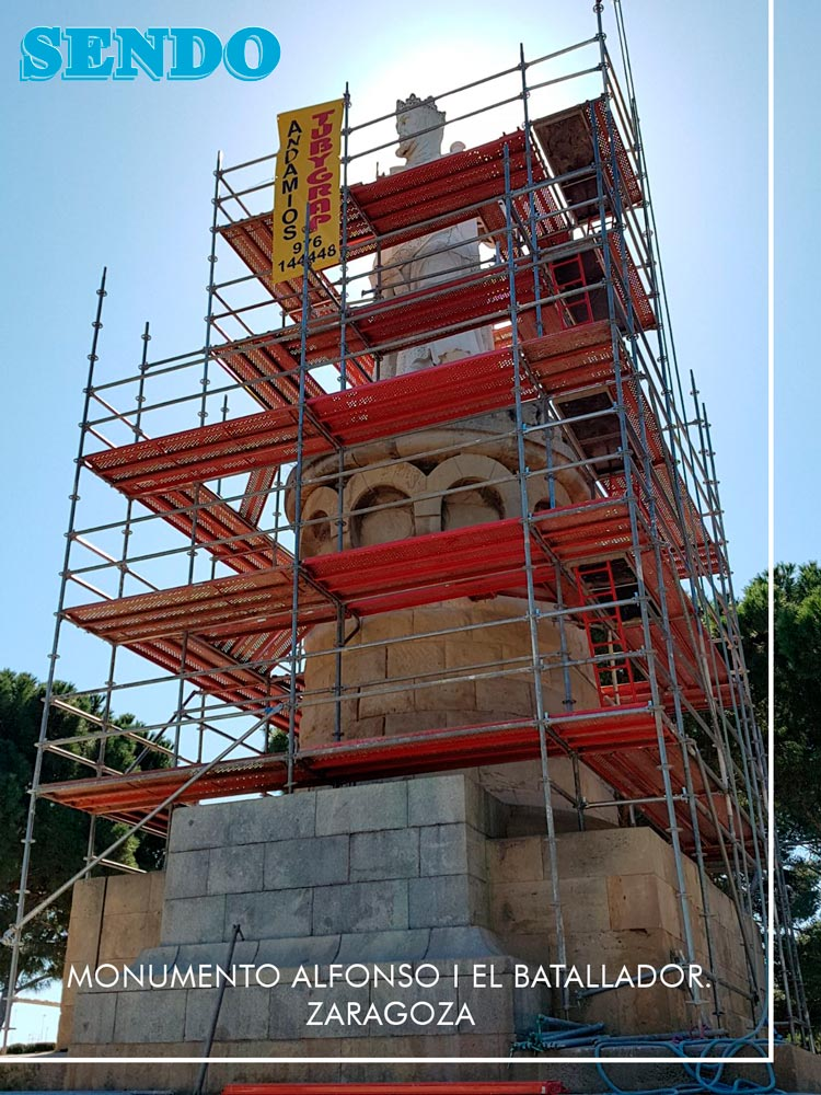 Rehabilitación Monumento Alfonso I El Batallador Zaragoza